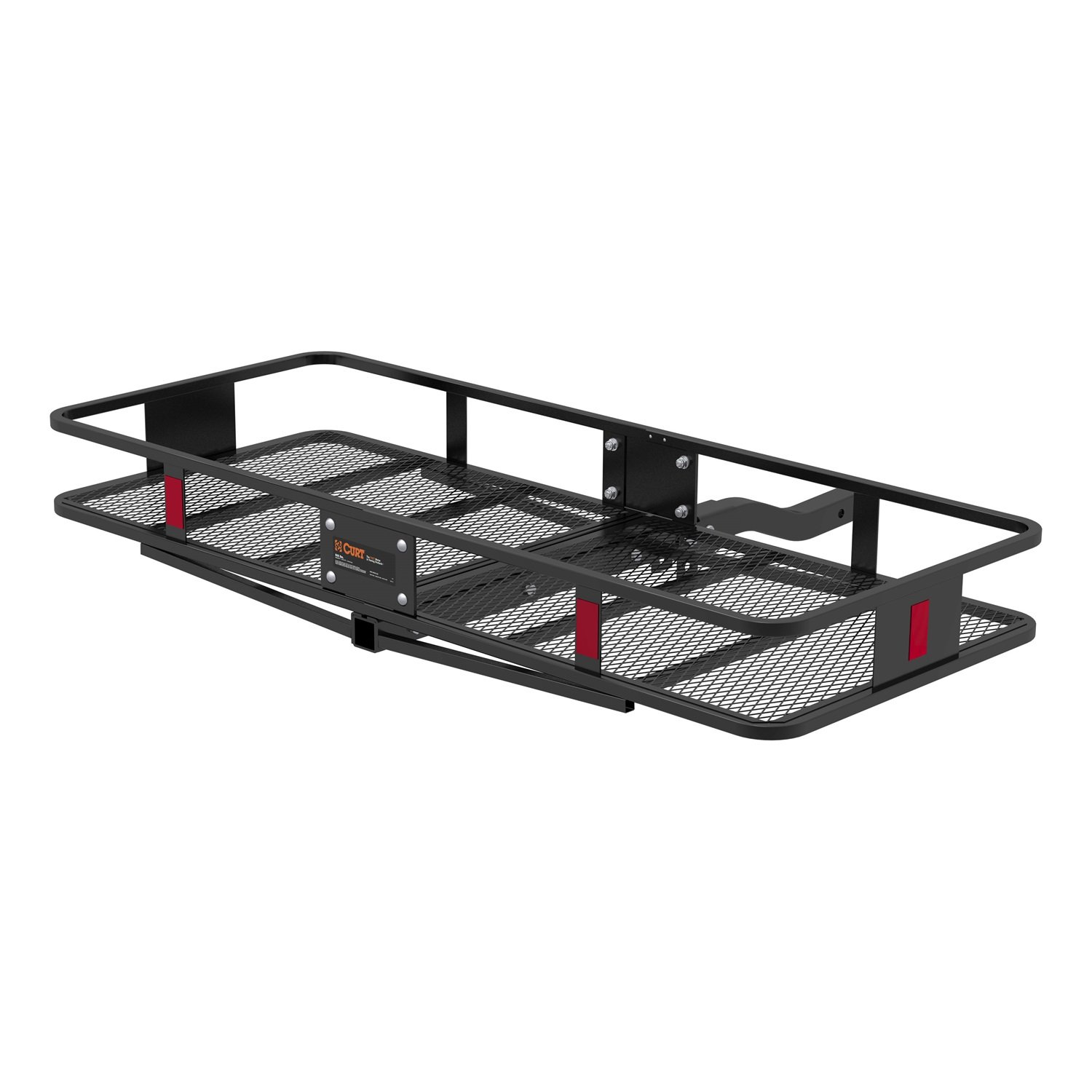 CURT 18153 Black 60'' x 23-1/2'' x 5-1/2'' Basket-Style Hitch Cargo Carrier (Fits 2'' Receiver)