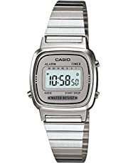Casio Women's LA670WA-7 Silver Tone Digital Retro Watch