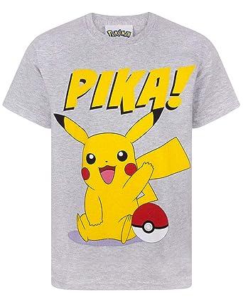4d024927 Pokemon Pikachu Pika Boys T-Shirt: Amazon.co.uk: Clothing