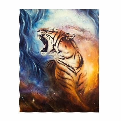 Amazoncom Kkasme 58 X 80 Inch Roaring Tiger Soft Throw Blanket For