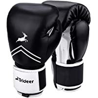 Trideer Pro Grade Boxing Gloves for Men & Women, Kickboxing Bagwork Gel Sparring Training Gloves, Muay Thai Style…