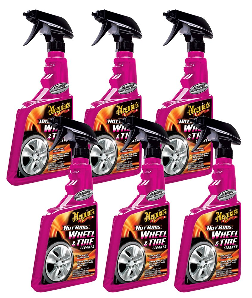 Meguiars Hot Rims Wheel Tire Cleaner 24 Oz 6 Pack Gold Class Carnauba Plus Quik Wax 2 G7716 1bh Automotive