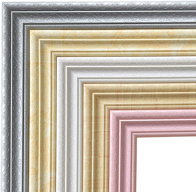 2 Pcs 3D Sticker for Walls Baseboard Trim Decoration Living Room Bedroom Baseboard Self Adhesive Wallpaper Borders White