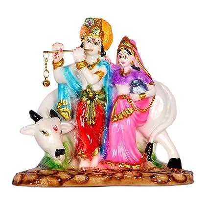 Radha Krishna murti Idol Statue Showpiece Showpieces god Figurine Idols for Home Decor Office House Warming