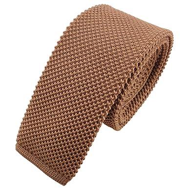 Lazo estrecho de punto - marrón marrón amarillento monocromo ...