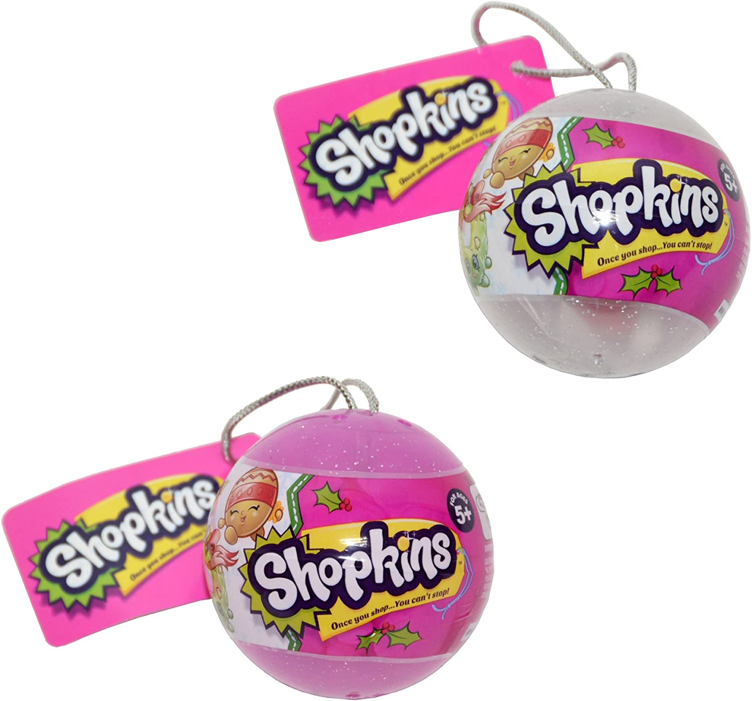 Shopkins 2016 Christmas Figures from Ornaments Complete Set of 12