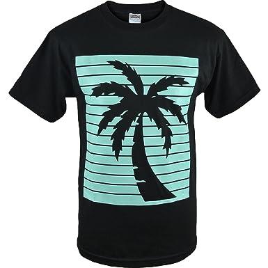 24334521b Mens Palm Tree Shadow Shirt California Republic Mens Tee (Palm Tree Shadow  Black, S