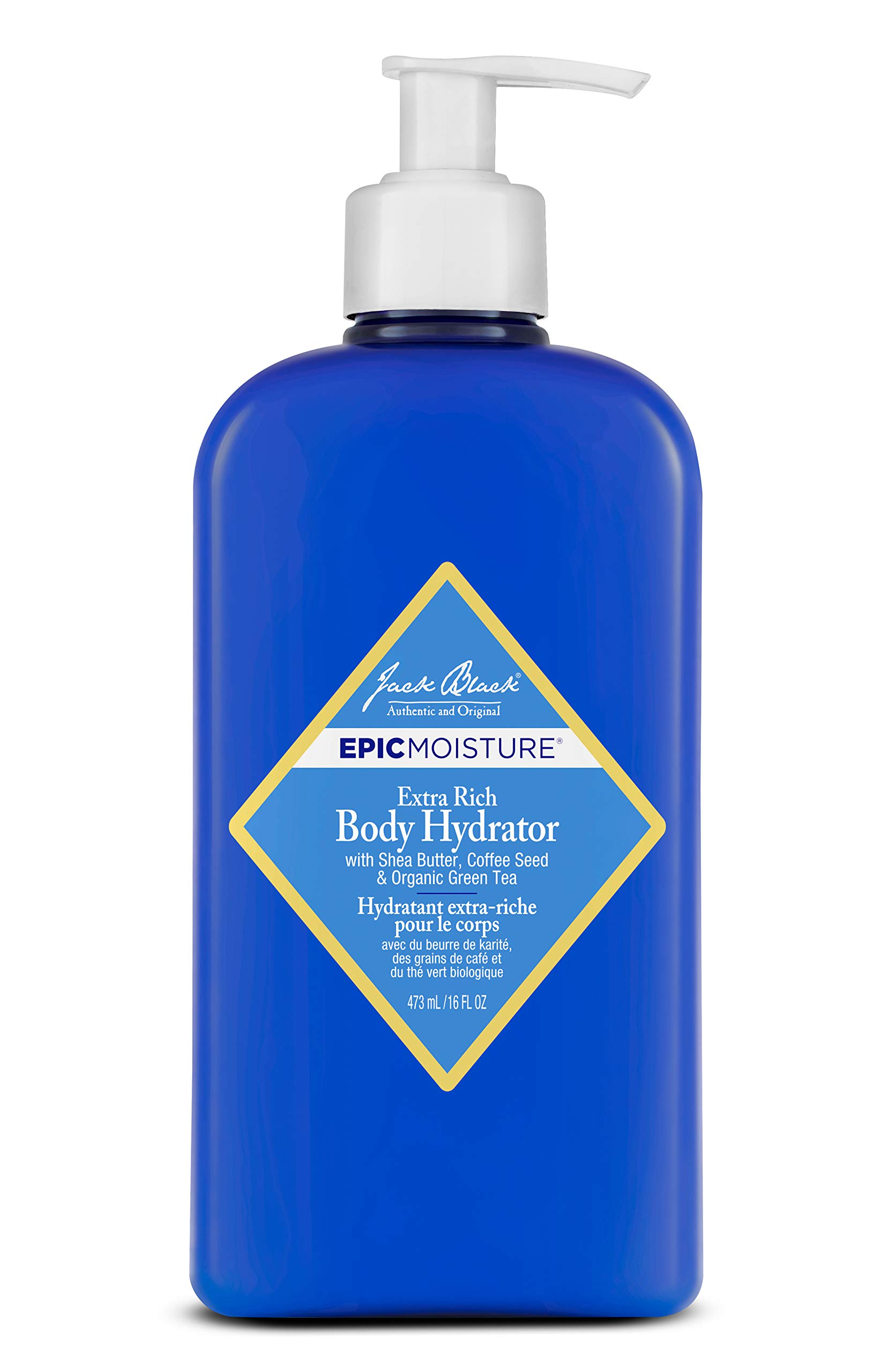 Jack Black - Extra Rich Body Hydrator, 16 fl oz - Epic Moisture for Men and Women, Emollient Lotion, Lasting Hydration for Skin, Shea Butter, Coffee Seed, Organic Green Tea by Jack Black