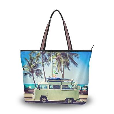 Amazon.com: wihve playa Van Camper Palmera Mujer Bolso asa ...