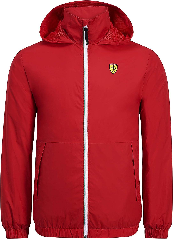 Scuderia Ferrari F1 Mens Windbreaker Jacket Red