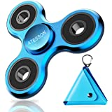 ATESSON Fidget Spinner Toy Ultra Durable Stainless Steel Bearing High Speed 2-5 Min Spins Precision Metal Material Hand Spinner EDC ADHD Focus Anxiety Stress Relief Boredom Killing Time Toys Blue