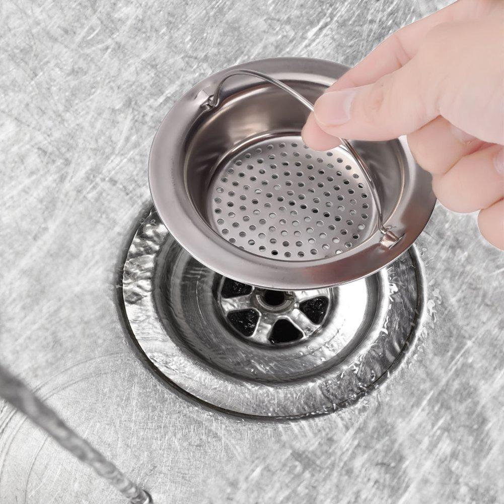 Acier inoxydable WA /évier Passoire inoxydable Stell de bain filtre de vidange de lavabo pour cuisine et salle de bain Silver 2/x DA Small