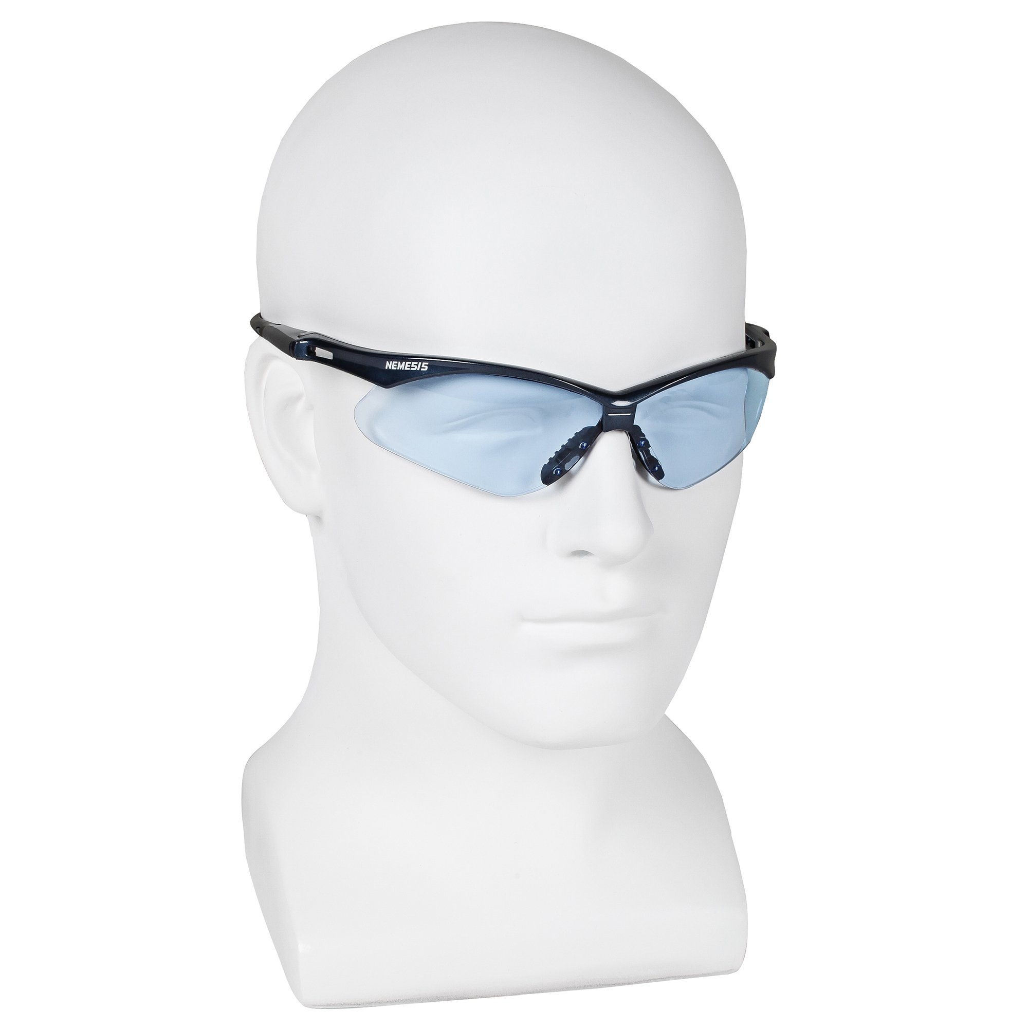 Jackson Safety V30 Nemesis Safety Glasses (19639), Light Blue Lenses with Blue Frame, 12 Pairs / Case by Jackson Safety (Image #4)