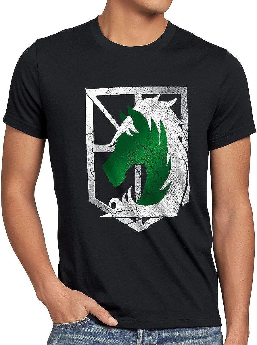 A.N.T. Titanes Policía Militar Camiseta para Hombre T-Shirt a los Ataque: Amazon.es: Ropa y accesorios