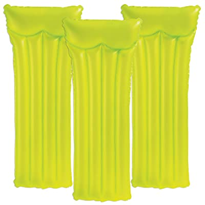 Intex Neon Frosted Pool Rafts Yellow - 3PK: Toys & Games