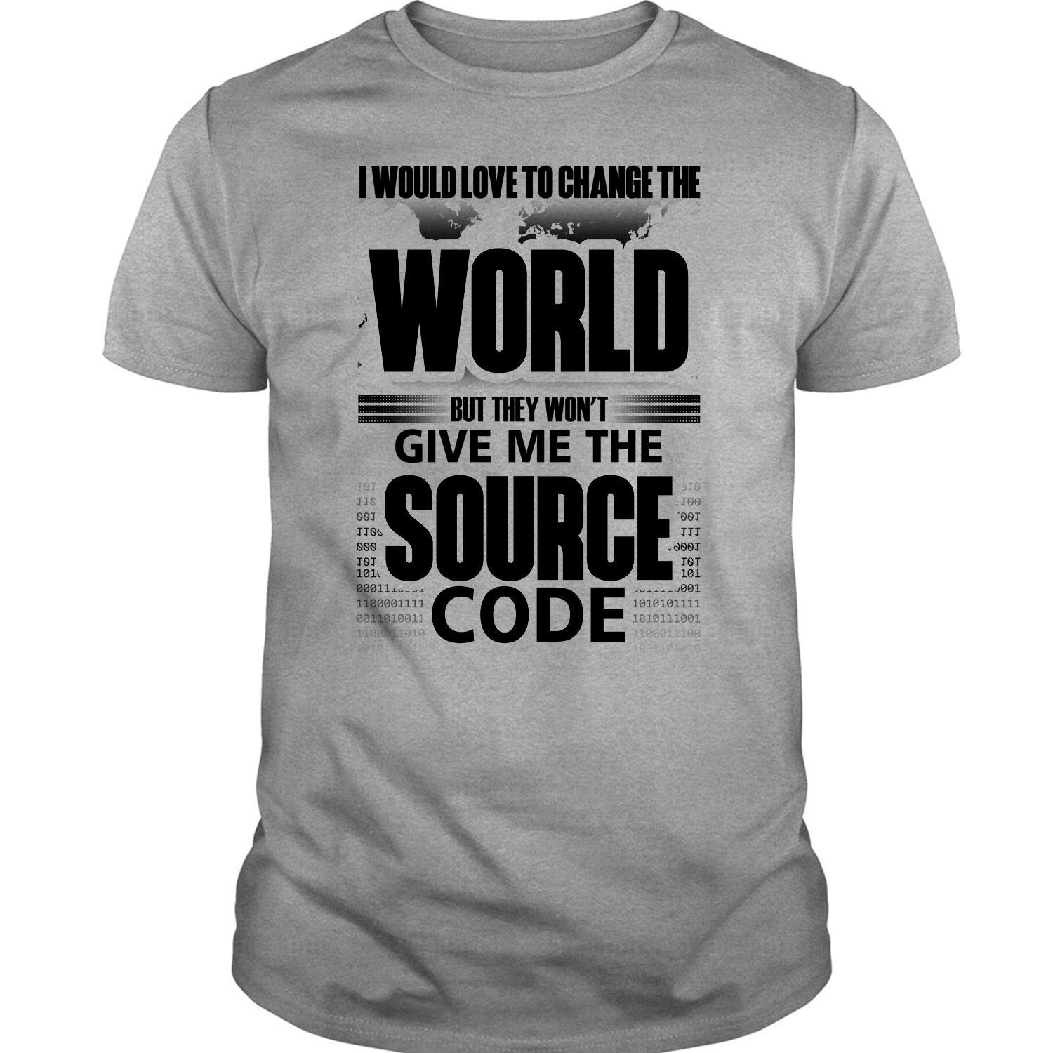 Source Code T Shirt I D Love To Change The World T Shirt