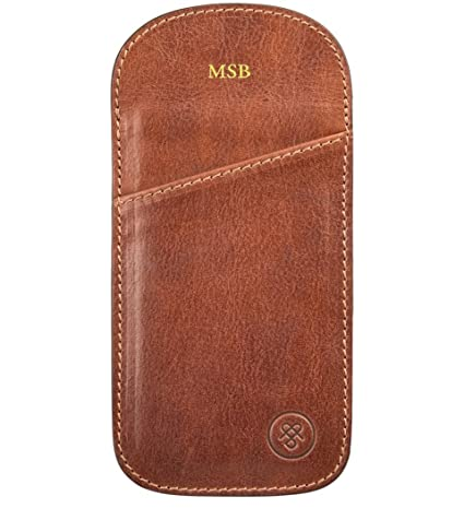 4870f5cd0ef Maxwell Scott® Personalised Best Quality Handmade Italian Full Grain Leather  Tan Reading Spectacle Case (The Rufeno)  Maxwell Scott  Amazon.co.uk   Luggage