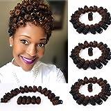 3 Packs Eunice Hair Synthetic Kenzie Curl Crochet Braids Short Crochet Braiding Bouncy Twist Spiral Curls Jamaican…