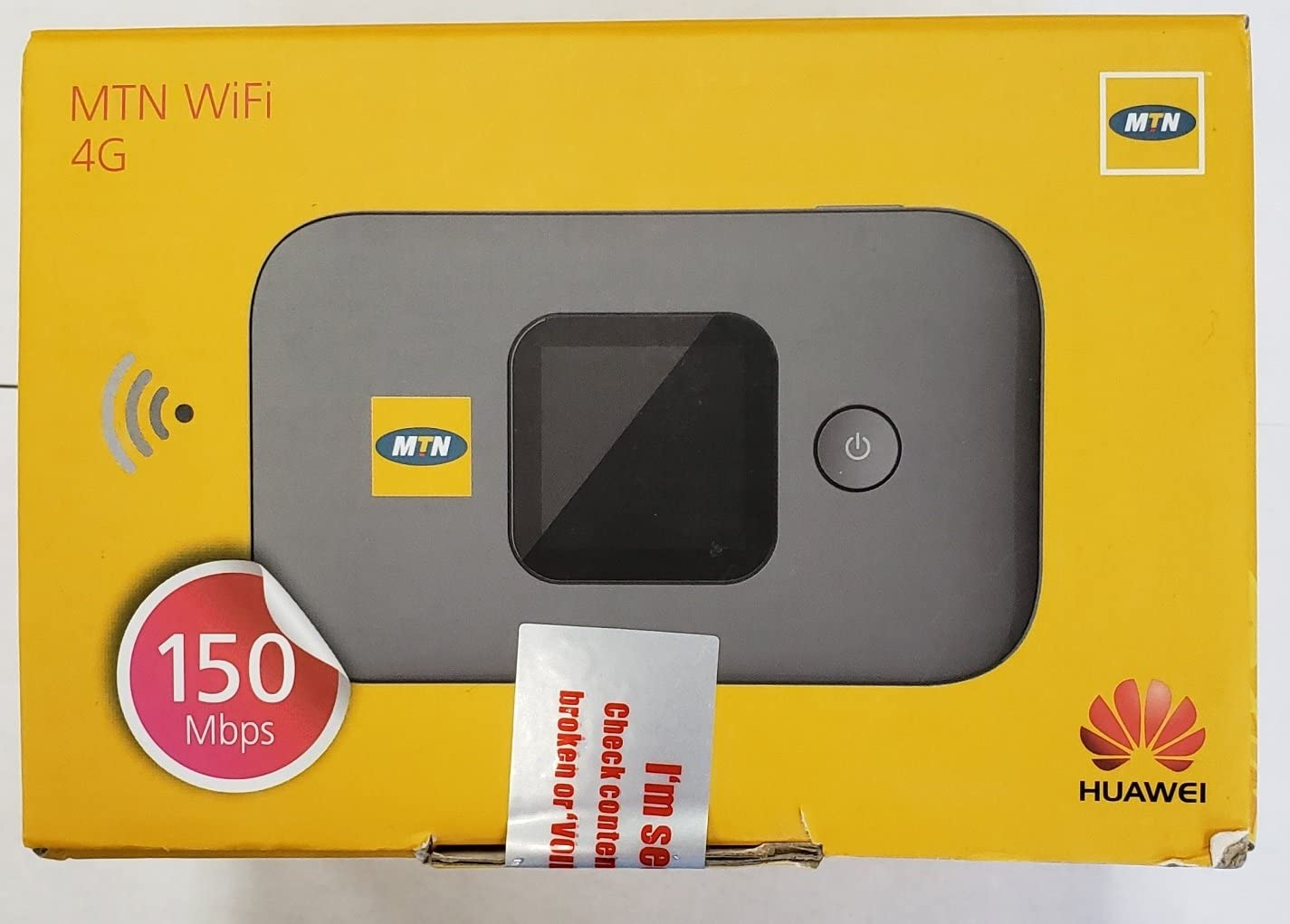 Amazon Com Huawei E5577s 321 150 Mbps 4g Lte Mobile Wifi Hotspot Mtn Unlocked Black Computers Accessories
