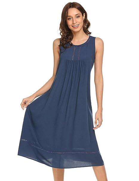 Dorani Women Sexy Lingerie Sleeveless Cotton Nightgown Sleepwear Sets 904e74719