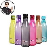 Cello Ozone Plastic Water Bottle Set, 1 Litre, Set of 6, Assorted