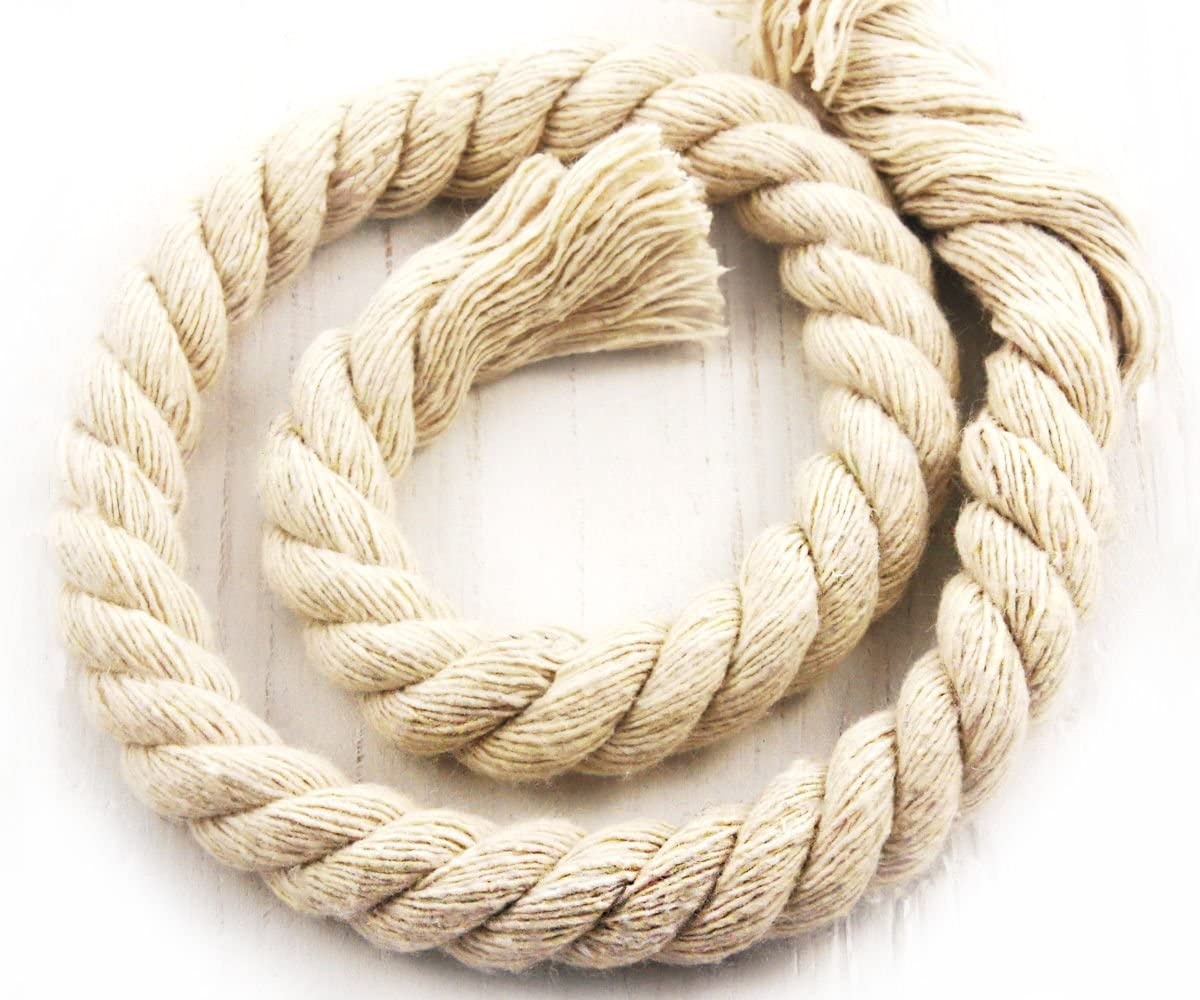 54cm 0.6yds Large Cotton Cord Natural Twisted Rope Craft Macrame Weaving Beading