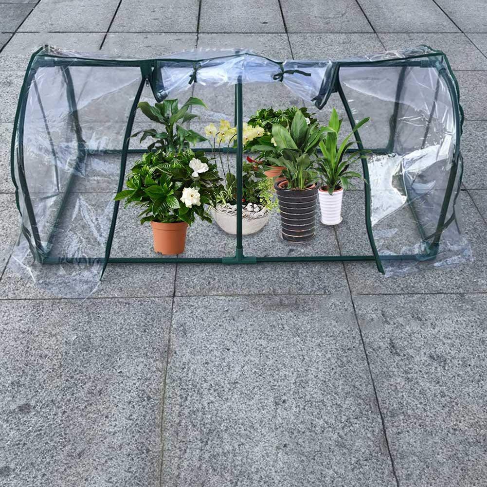 Mini Invernadero Mini cobertizo de Aislamiento Mini Cuarto de Flores Toldo de Lluvia Protección de Plantas Cobertizo Jardinería Pequeño Invernadero: ...