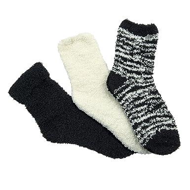 997599603ee ElsaBoutique Lot de 3 paires de chaussettes femme Cocooning - TU 36 ...