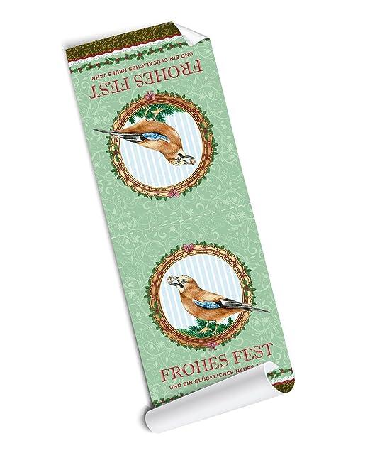 24 STICKER 24 Weihnachtssticker zu Weihnachten in grün mit Eichelhäher