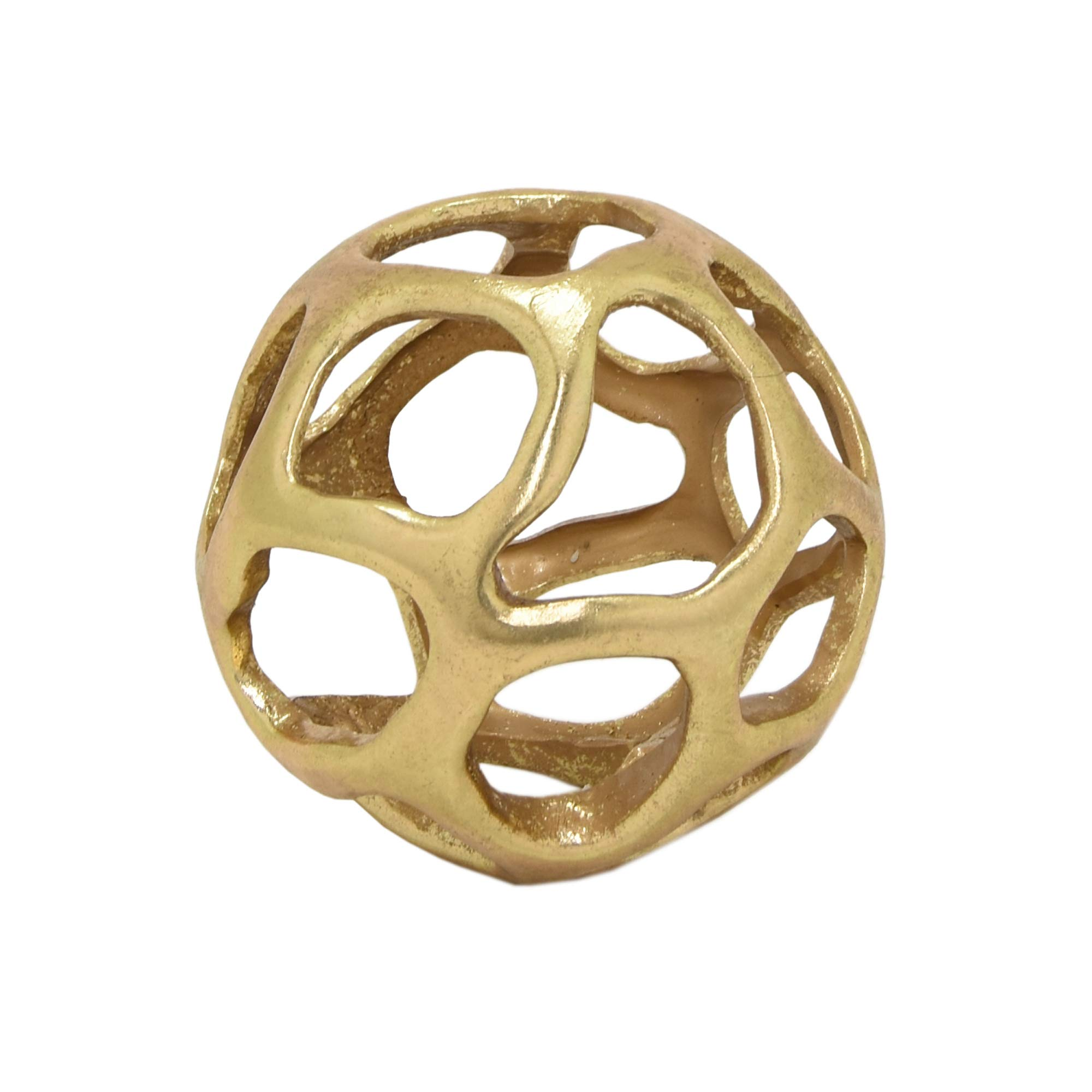 Three Hands 70968 5'' Gold-ORB Tabletop Decoration by Three Hands
