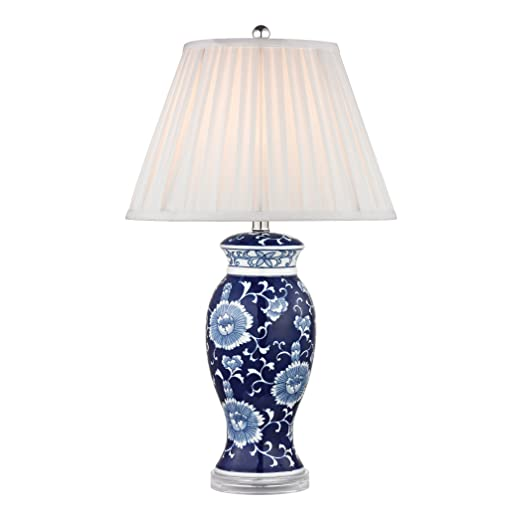 16 x 16 x 28 16 x 16 x 28 Dimond Lighting D2474 Blue and White Ceramic Table Lamp Hand Painted