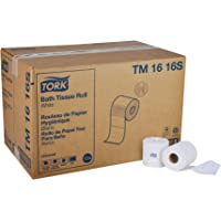 "Tork Universal TM1616S Bath Tissue Roll, 2-Ply, 4"" Width x 3.75"" Length, White (Case  of 96 Rolls, 500 per Roll, 48,000 Sheets)"