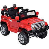 Costzon Kids Ride On Truck Jeep Car 12V Powered Remote Control Toy Vehicle w/ LED Lights MP3