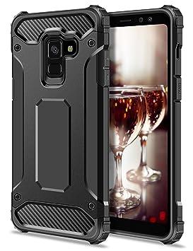 Coolden Samsung Galaxy A8 2018 móvil, Outdoor antigolpes (Tough Carcasa de Silicona 4 Air Cushion Esquinas Premium [Armor Serie] Teléfono Móvil para ...