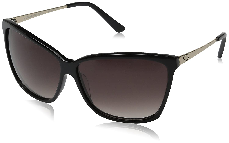c1789e61435b O by Oscar de la Renta Eyewear Women's SSC5074 Rectangle Sunglasses,Black,174  mm: Amazon.co.uk: Clothing