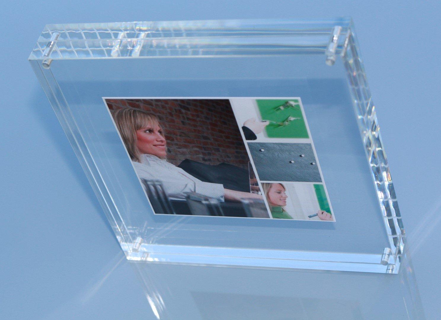 Amazon.de: FLUX-Frame: Design-Acryl-Bilderrahmen, 18 x 18 x 3 cm ...