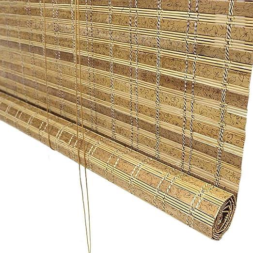 Persiana de bambú Persianas Enrollables Al Aire Libre para Cortinas De Patio con Porche, Enrollables Exteriores Pantalla De Privacidad para Cubierta Pergola Gazebo, 85cm / 105cm / 125cm / 145cm De An: