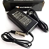 Antoble 24V 2A XLR Electric Scooter Battery Charger for Go-Go Elite Traveller Plus HD US, Ezip Mountain Trailz, Jazzy Power Chair