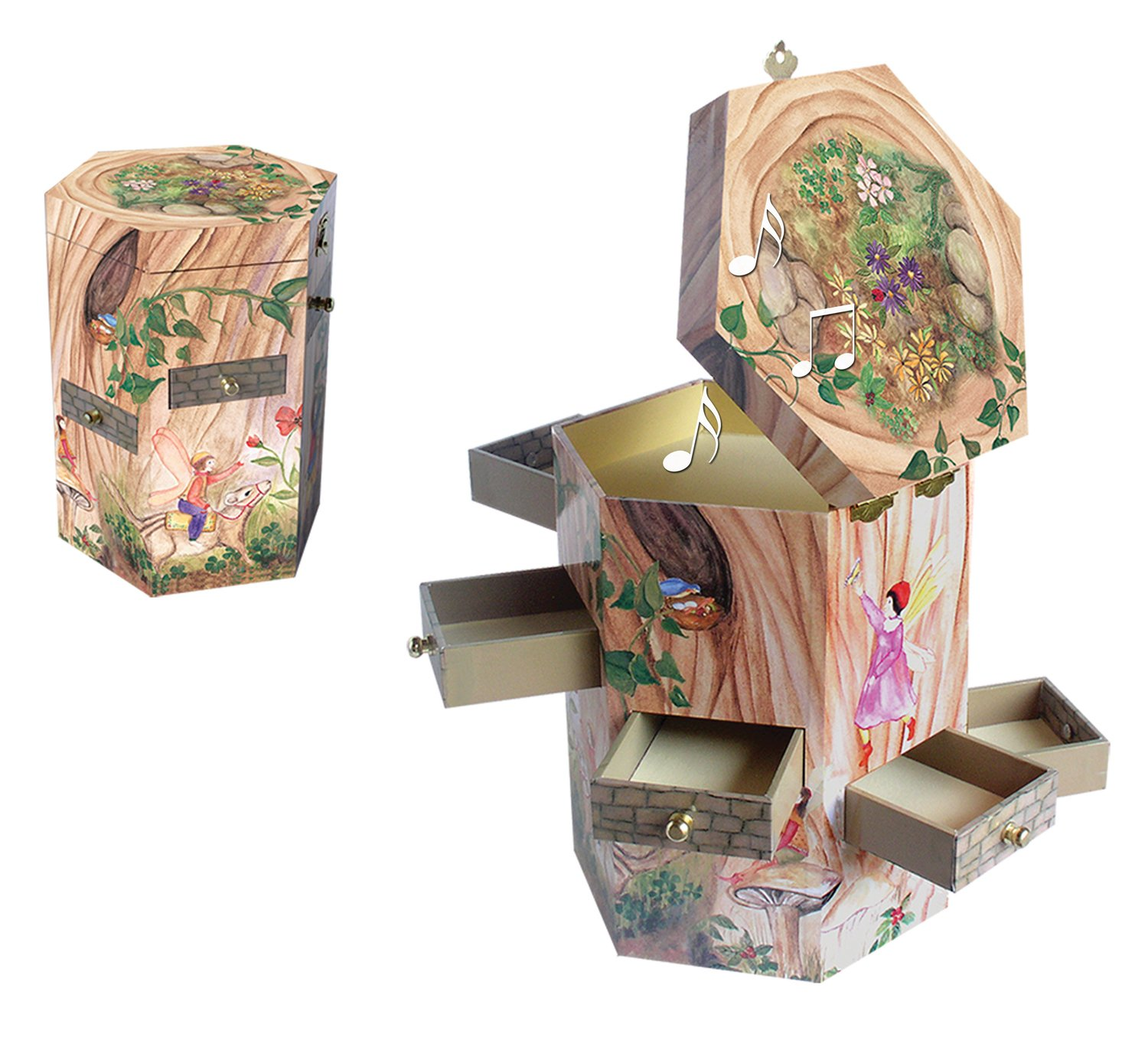Amazoncom Enchantmints Treasure Tower Music Box Fairy Collection
