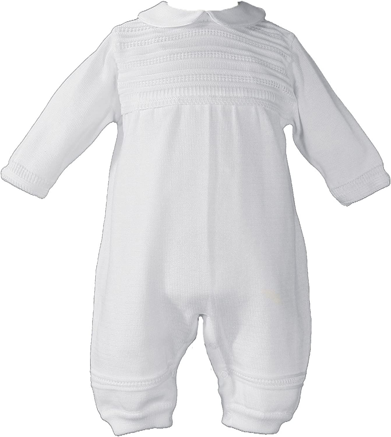 Little Things Mean A Lot Cotton Knit Christening Onesie