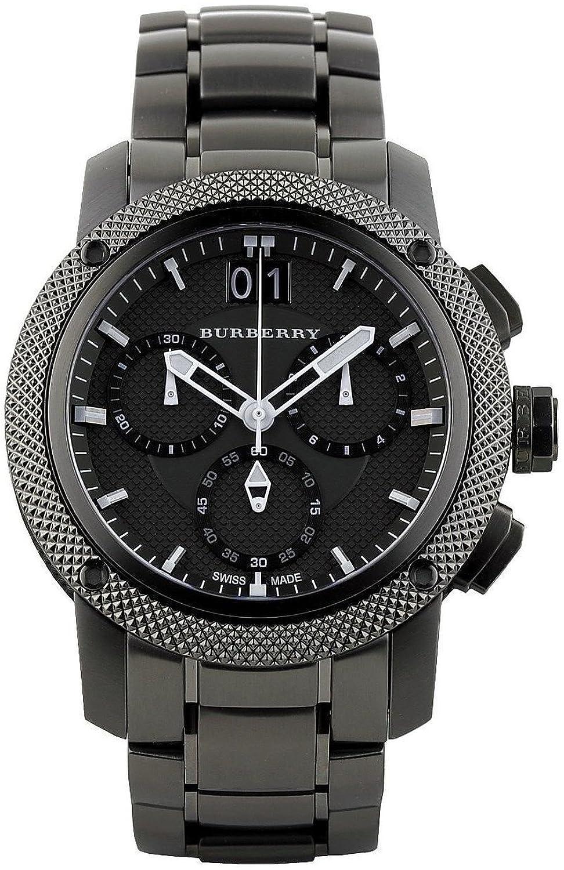Burberry bu9801 Watch Endurance Mens – Black DialステンレススチールCase Quartz Movement B00C6PK660