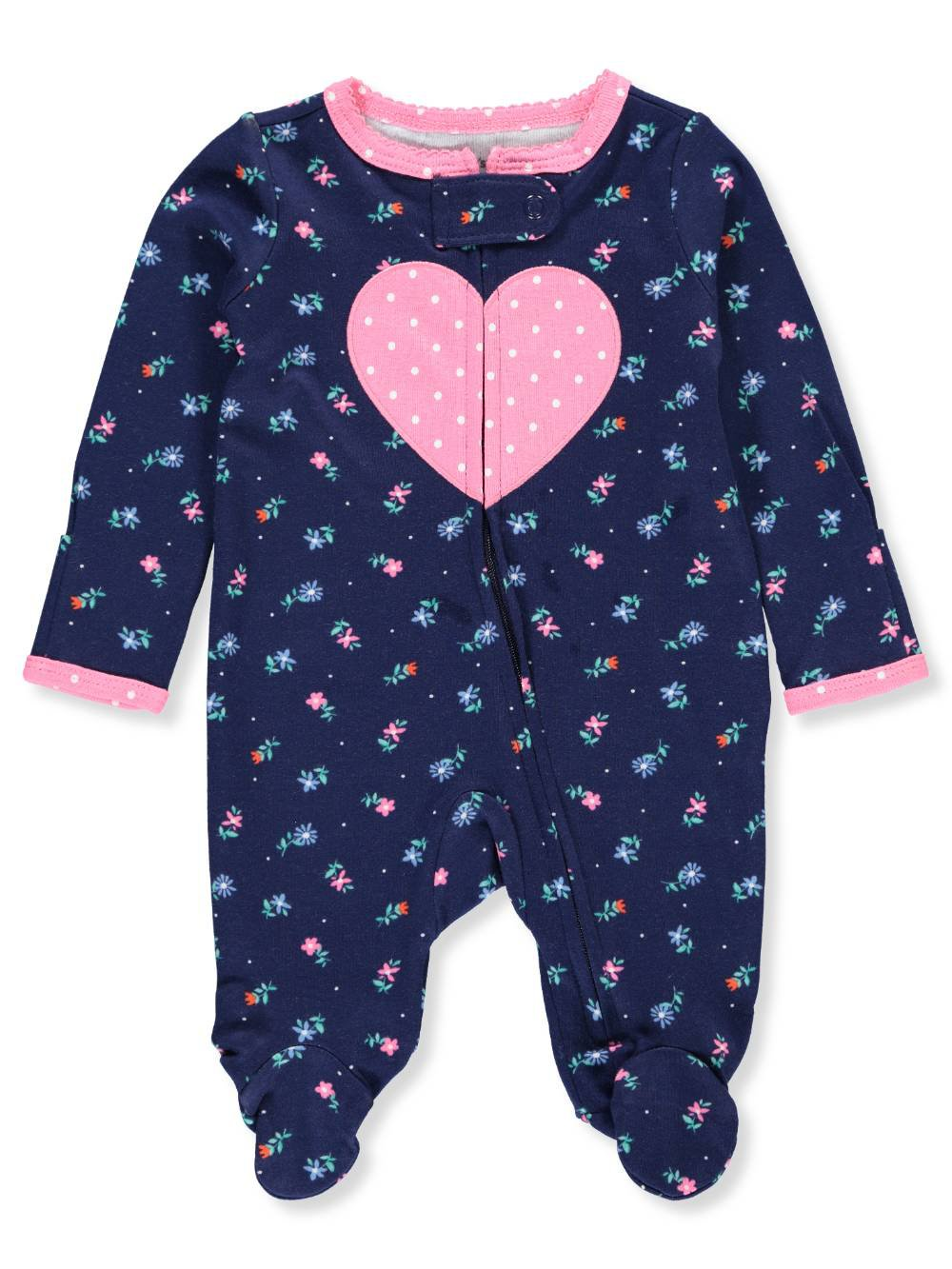 Carter's Baby Girls' Footed Coverall - Navy/Multi, 3 Months