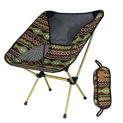 Beautyrain Sillas de Camping Ligeras sillas Plegables ...