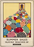 Vintage London Underground SUMMER SALES QUICKLY REACHED BY UNDERGROUND c1925 250gsm ART CARD Gloss A3 Reproduction Poster