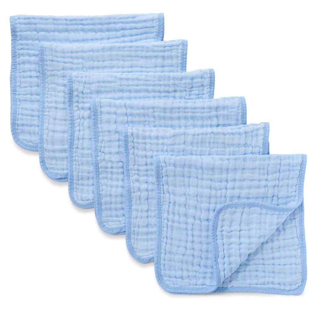 Blue Rainbow Combo Hourglass Shape Fleece Burp Cloths 5-Piece Set Elys /& Co 100/% Jersey Knit Cotton with Extra Absorbent Fleece Inner-Layer for Baby Boy /—
