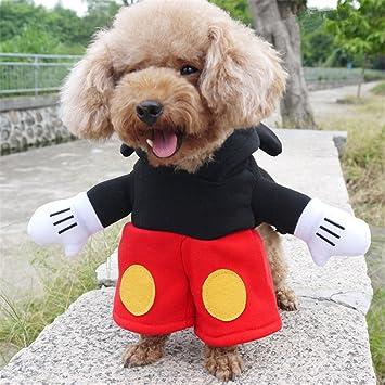 Amazon.com: Ropa para perro, disfraz de Mickey para mascota ...