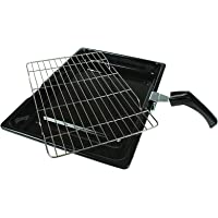 Durable Universal Oven Cooker Grill Pan Rack & Handle 380 x 280mm