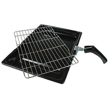 Bandeja y rejilla universal duraderas para horno y estufa con mango desmontable (380 x 280 mm): Amazon.es: Hogar