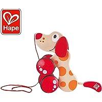 Hape E0347 - Nachziehhund Pepe, Nachziehspielzeug, aus Holz, ab 12 Monate
