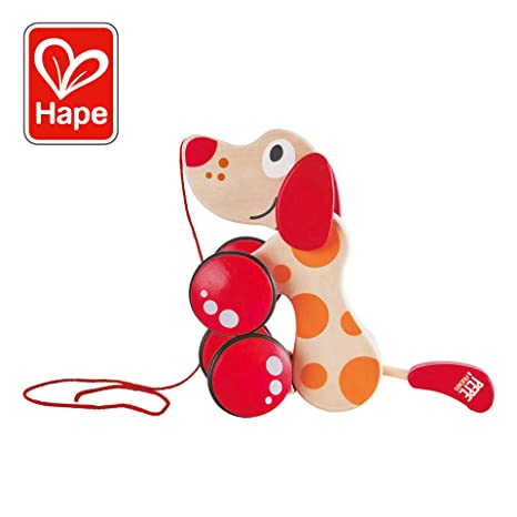 88ab4d99c60d Walk-A-Long Puppy Wooden Pull Toy by Hape   Award Winning Push Pull